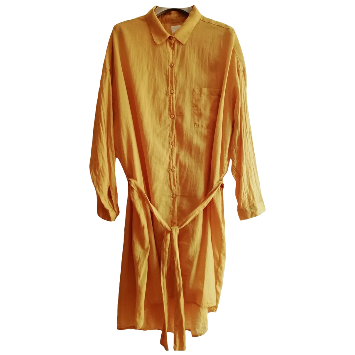 Des Petits Hauts \N Yellow Cotton dress for Women 2 0-5