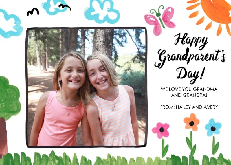 Grandparent's Day 5x7 Cards, Premium Cardstock 120lb, Card & Stationery -Refrigerator Art