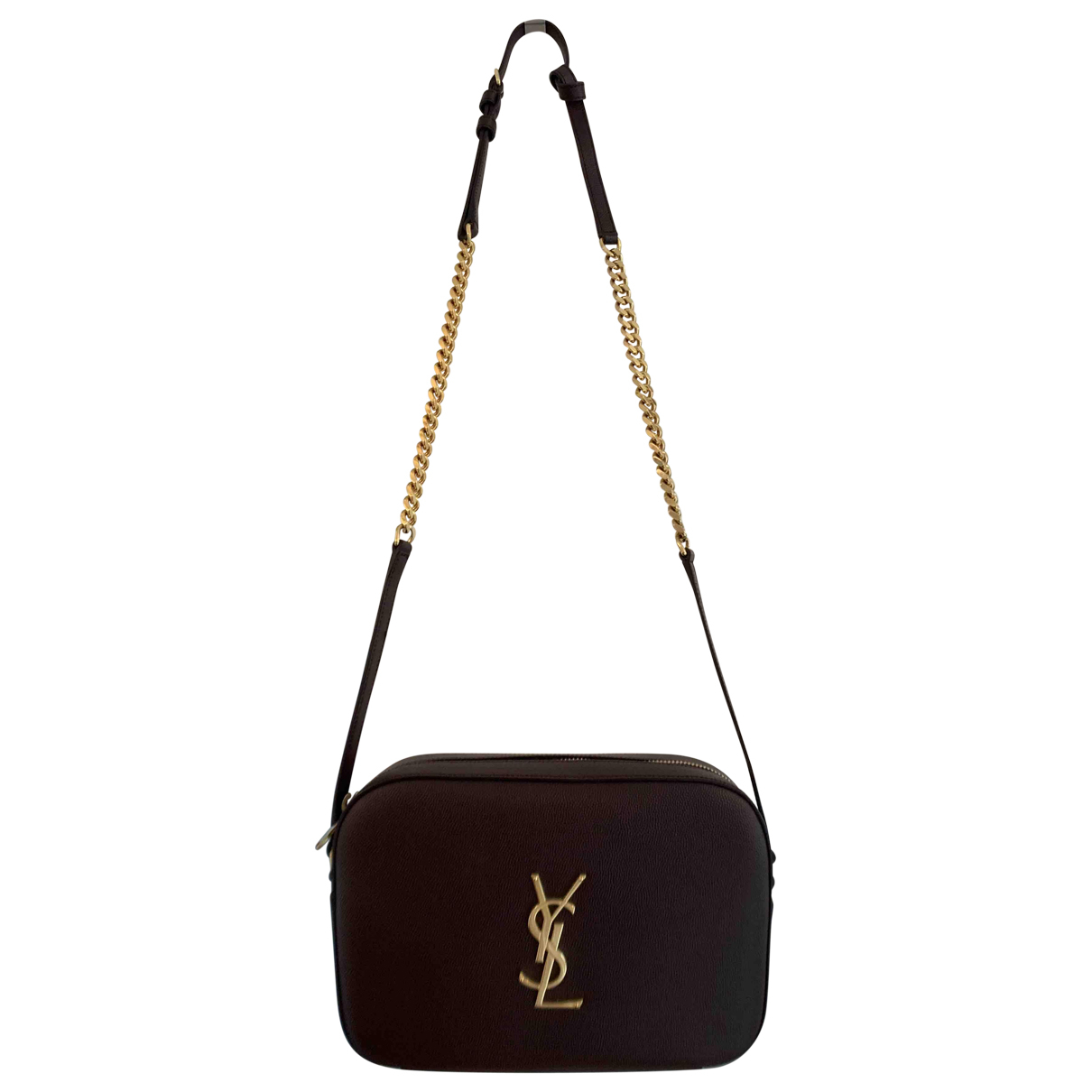Saint Laurent Blogger Handtasche in  Braun Leder