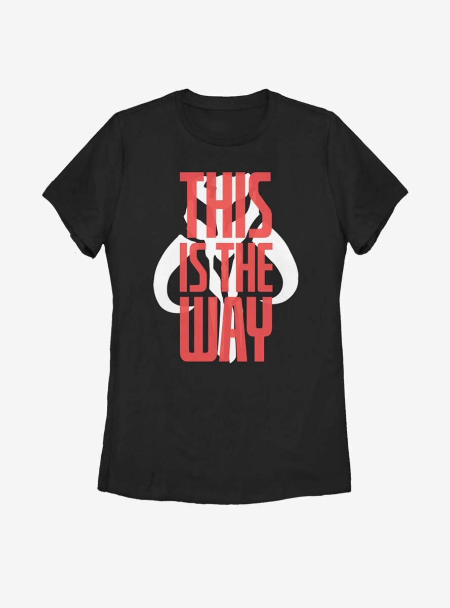 Star Wars The Mandalorian This Is The Way Bold Script Womens T-Shirt