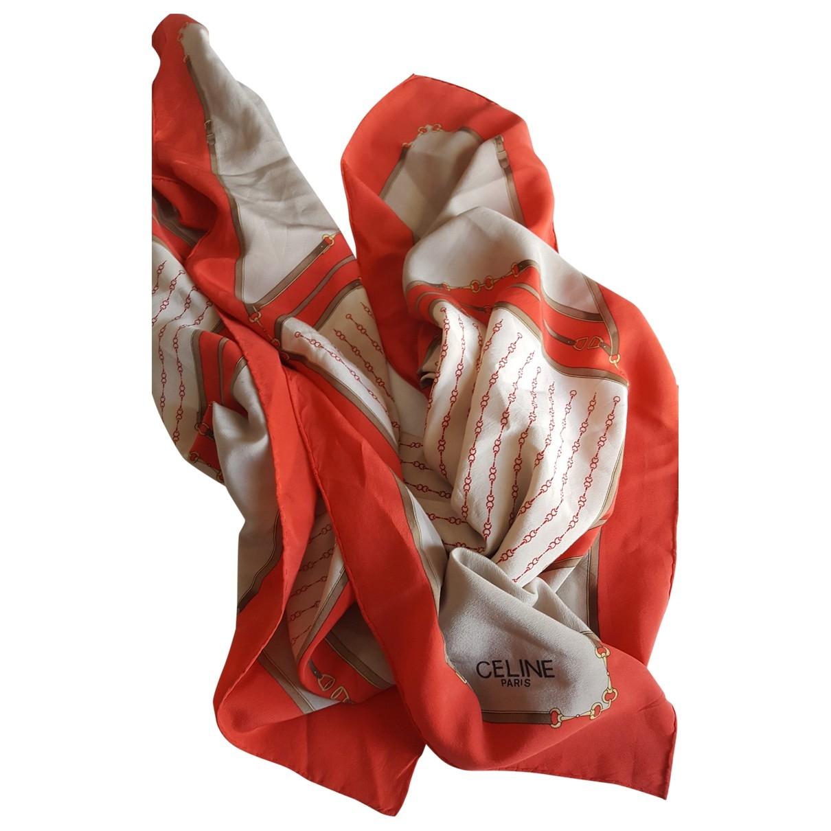 Celine \N Schal in  Rot Seide