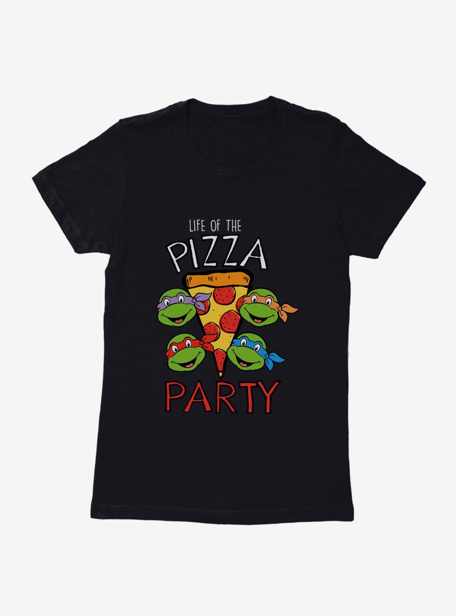 Teenage Mutant Ninja Turtles Party With Pizza Womens T-Shirt