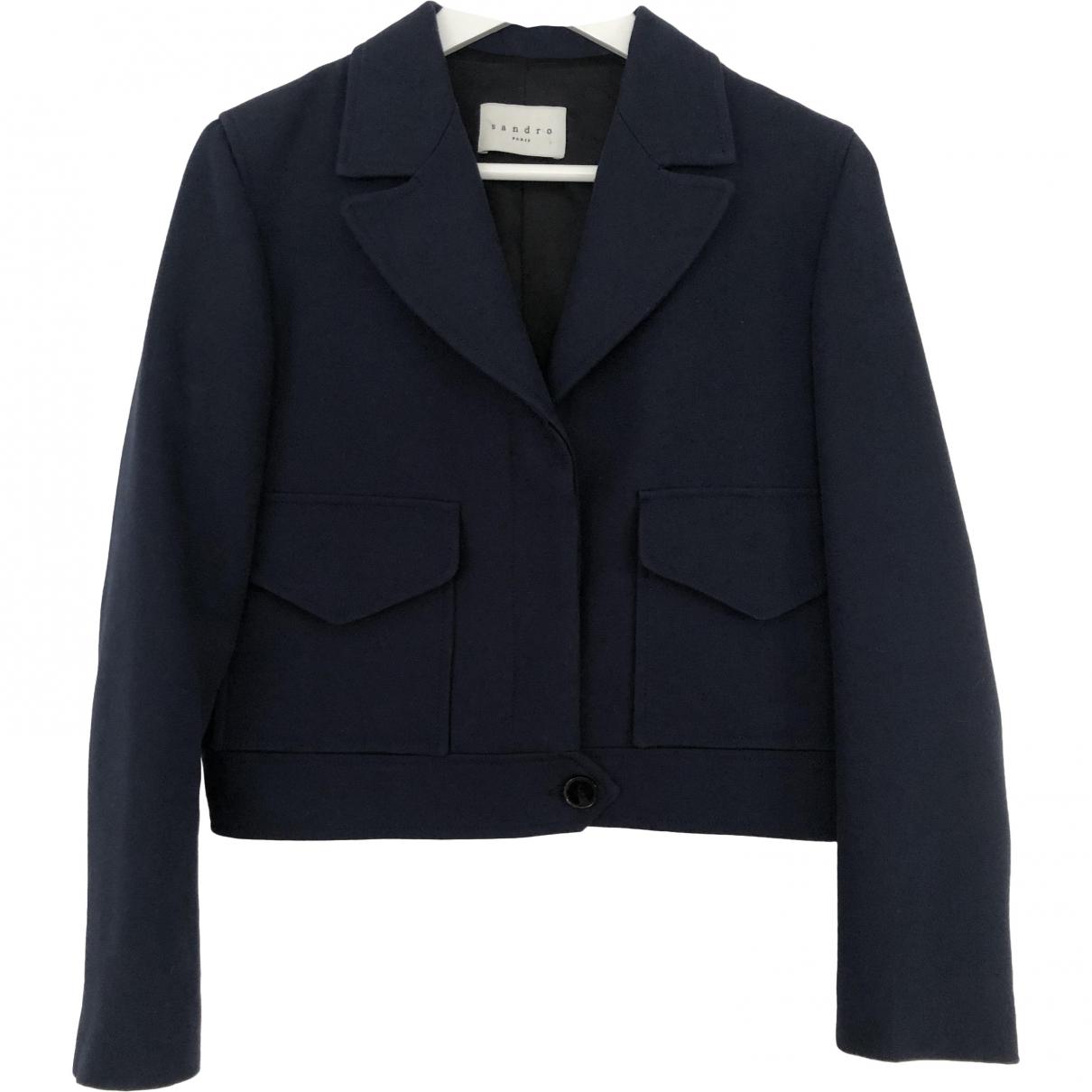 Sandro \N Navy Cotton jacket for Women 40 FR