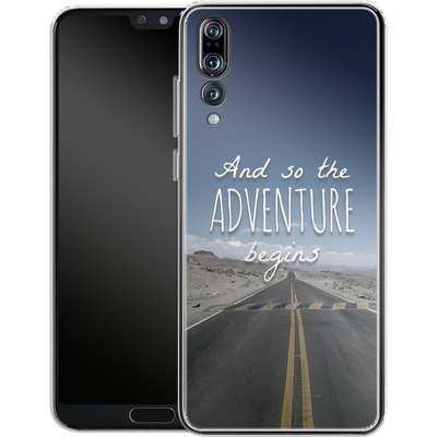 Huawei P20 Pro Silikon Handyhuelle - And so the Adventure Begins von Joel Perroden
