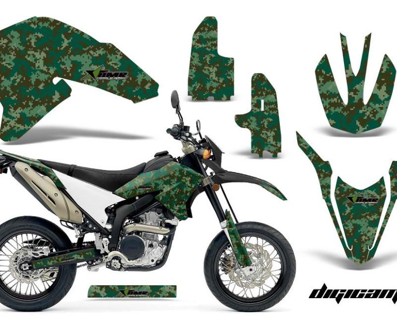 AMR Racing Dirt Bike Decal Graphics Kit Wrap For Yamaha WR250R WR250X 2007-2016áDIGICAMO GREEN
