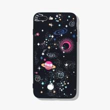 1 pieza funda de iphone con planeta