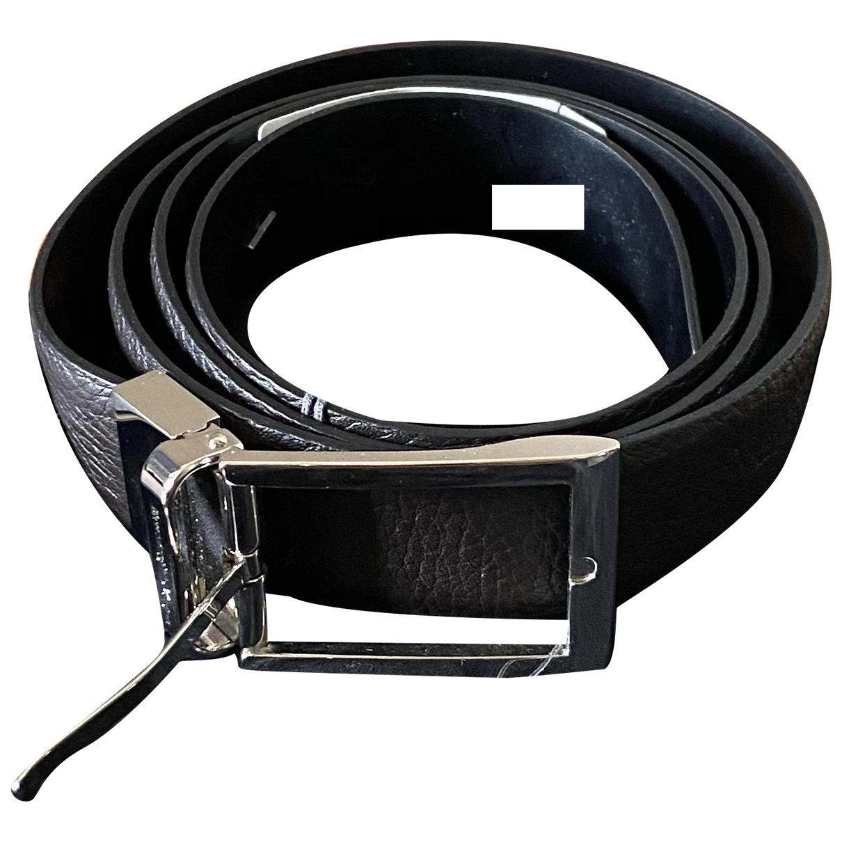 Z Zegna \N Brown Leather belt for Men 100 cm
