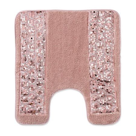 Popular Bath Sinatra Bath Rug, One Size , Pink