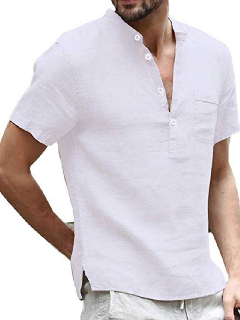 Ericdress Casual Plain Summer Loose Shirt