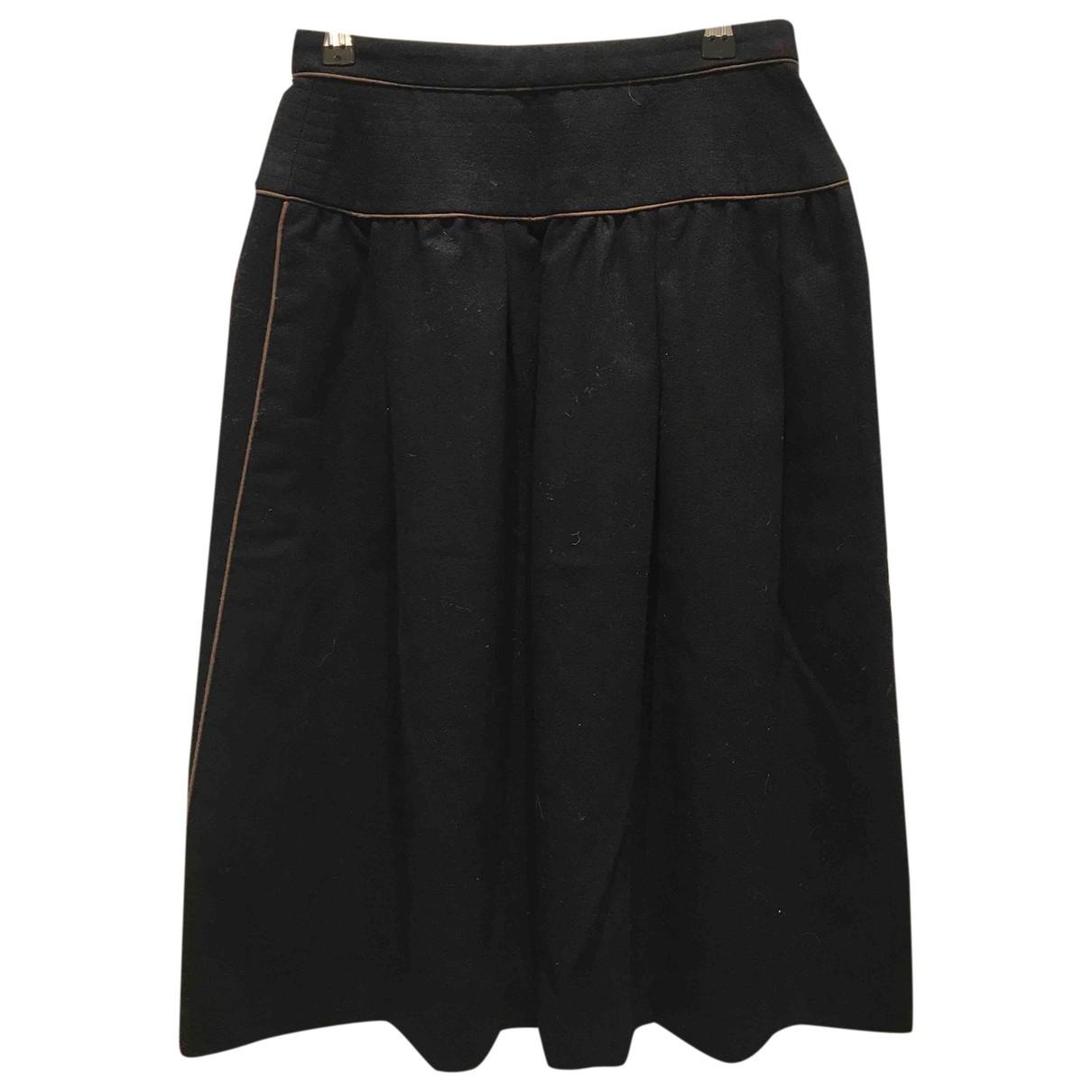 Yves Saint Laurent \N Rocke in  Schwarz Wolle