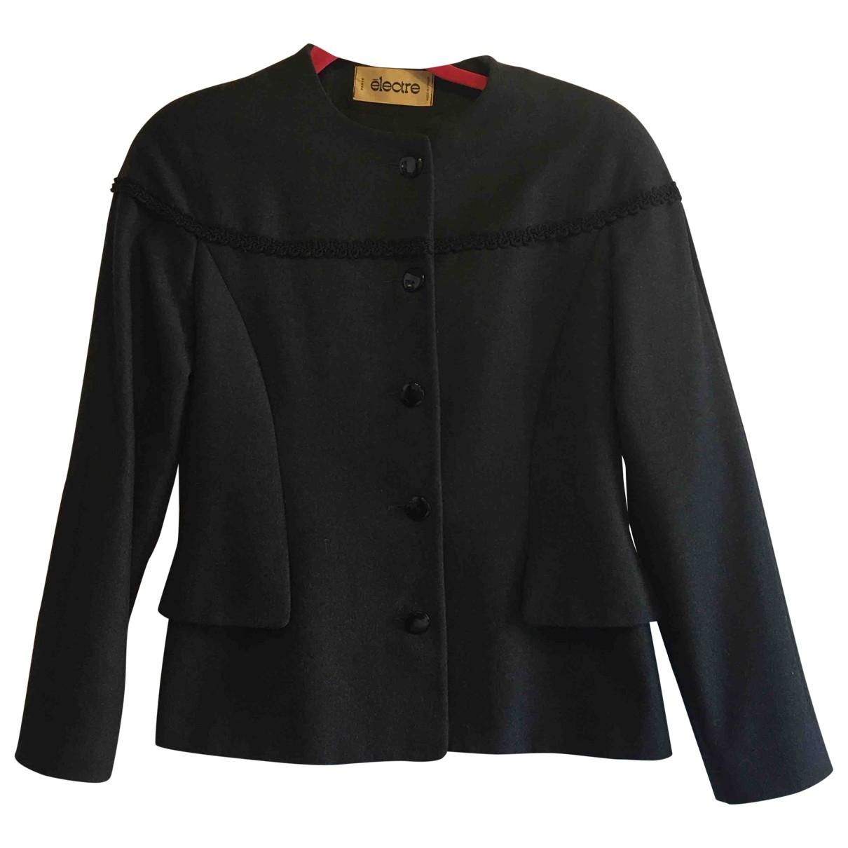 - Veste   pour femme en laine - anthracite