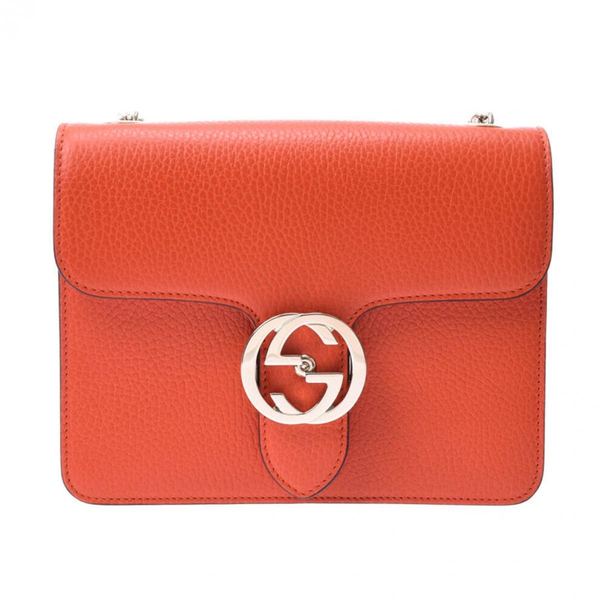 Gucci Interlocking Orange Leather handbag for Women \N