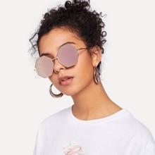 Metal Frame Polygon Sunglasses