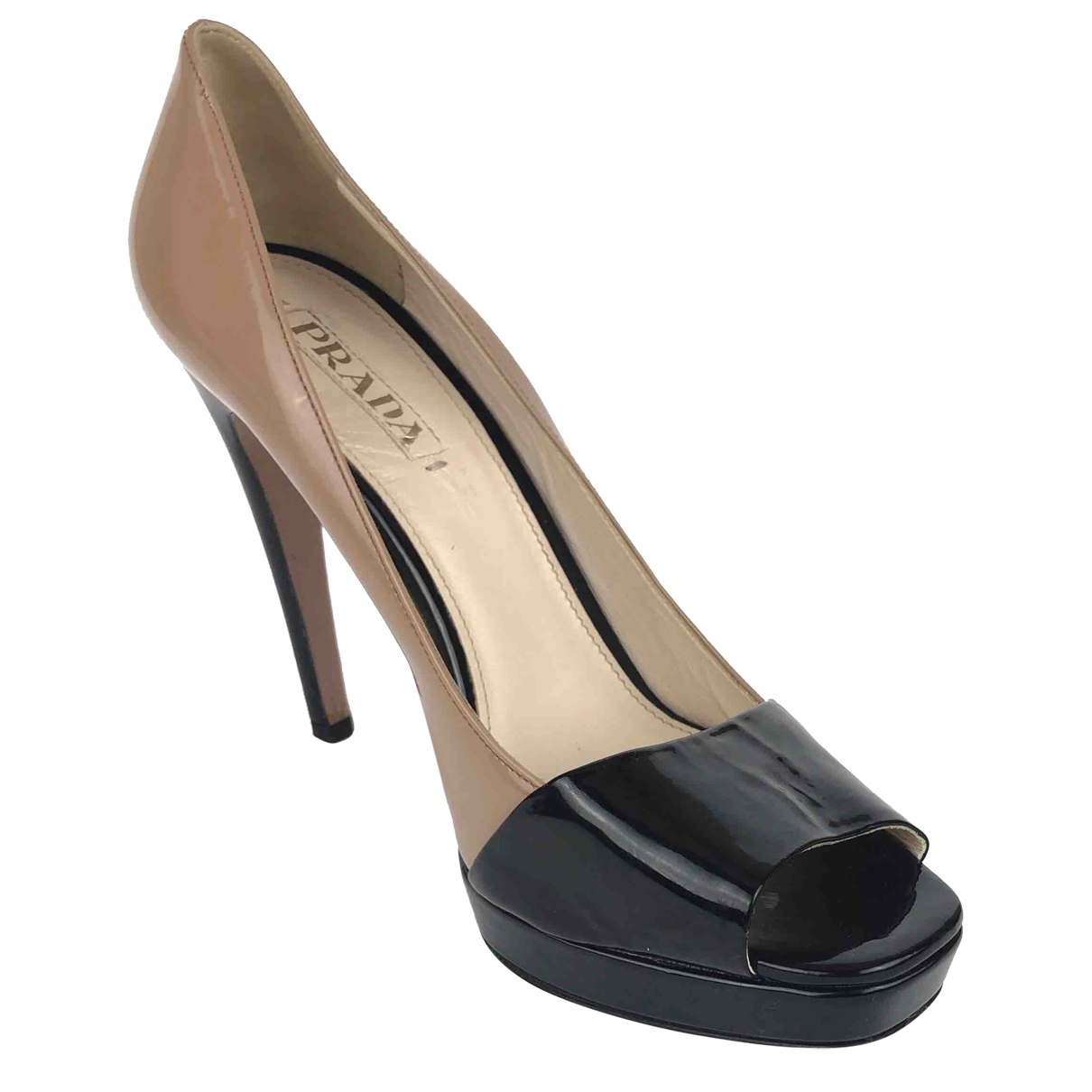 Prada \N Beige Patent leather Heels for Women 40.5 EU