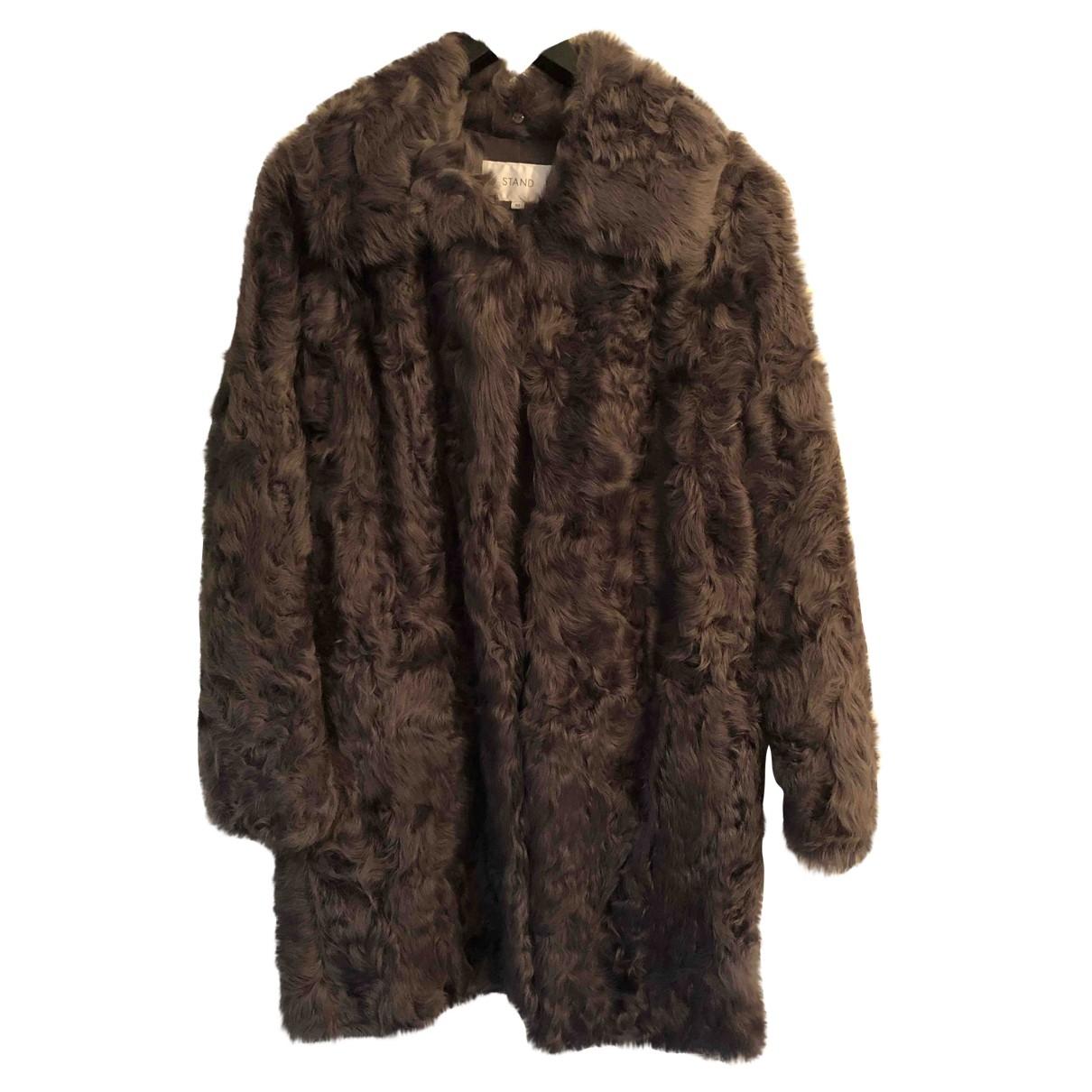 Stand Studio \N Grey Shearling coat for Women S International