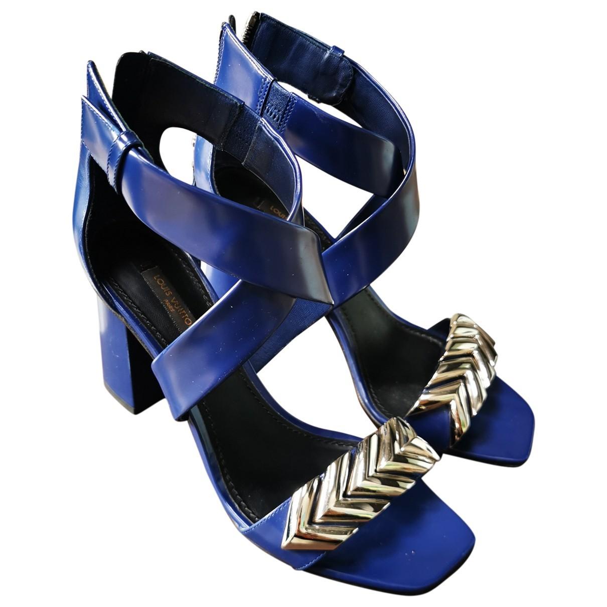 Louis Vuitton - Sandales Horizon pour femme en cuir - bleu