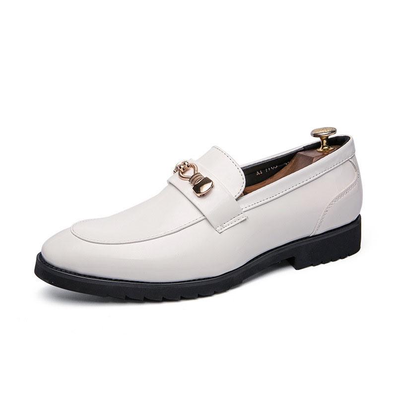 Ericdress Plain Slip-On Block Heel Men's Oxfords