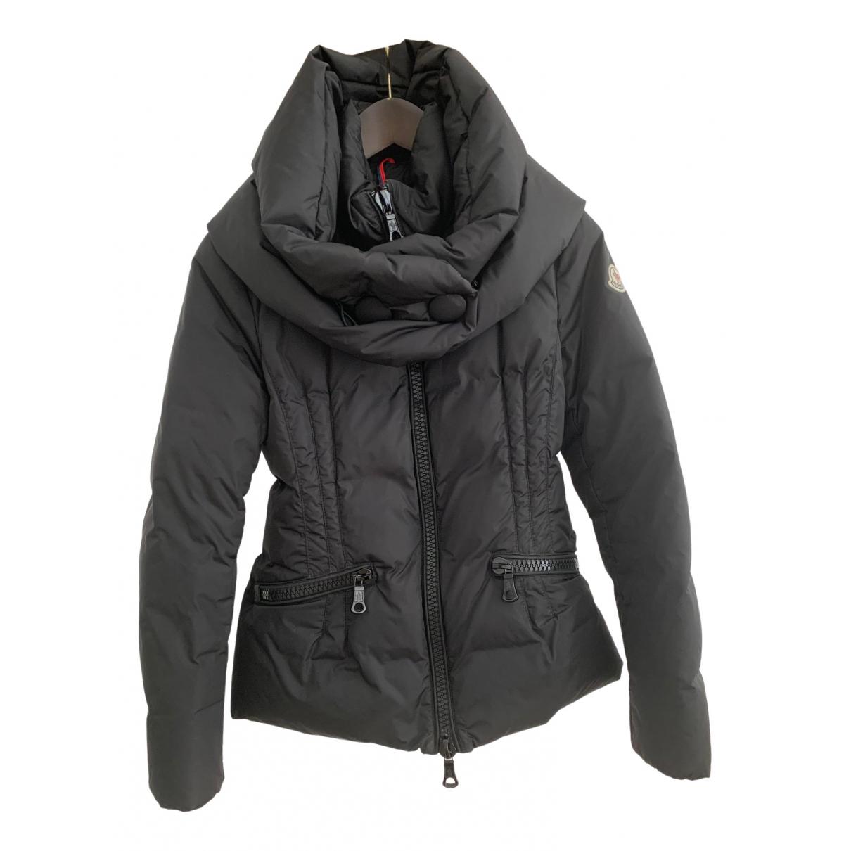 Moncler Classic Black coat for Women 42 IT