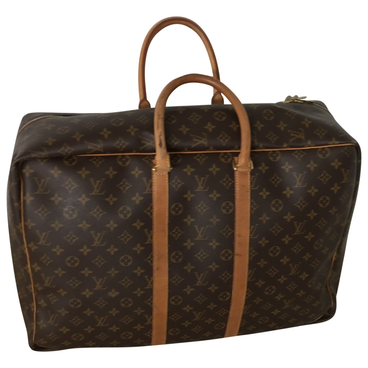 Louis Vuitton Keepall Reisetasche in  Braun Leder