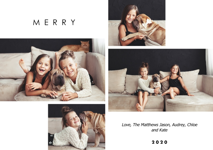 Christmas Photo Cards Mail-for-Me Premium 5x7 Flat Card, Card & Stationery -Modern Gridwork