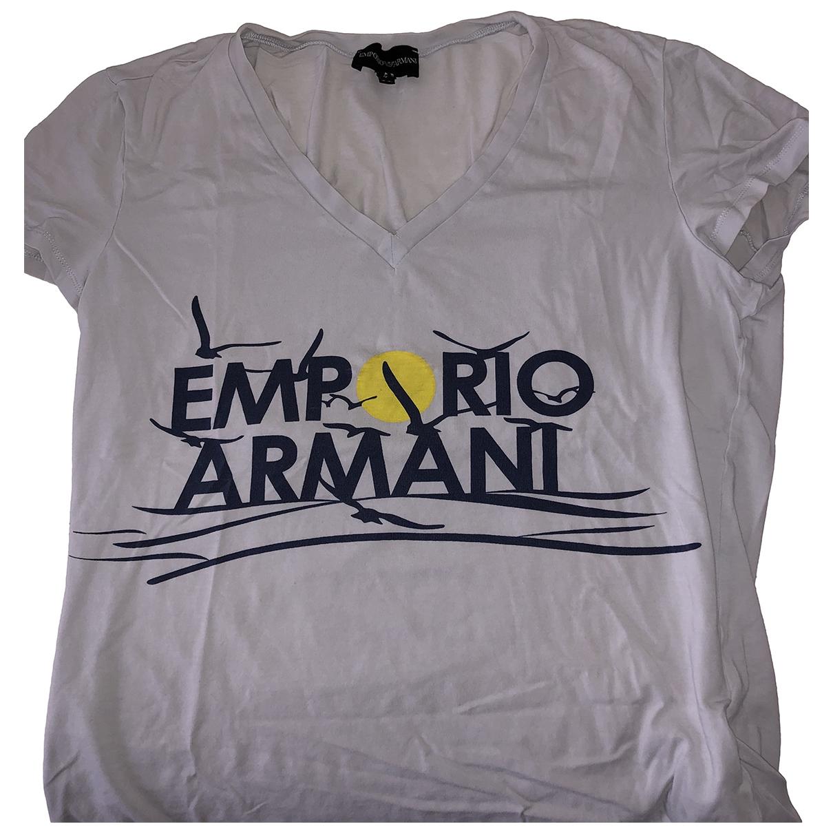 Emporio Armani - Top   pour femme en coton - gris