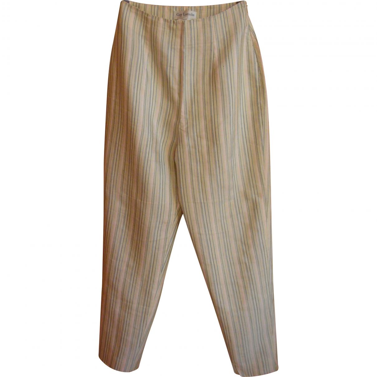 Guy Laroche \N Multicolour Trousers for Women 38 FR