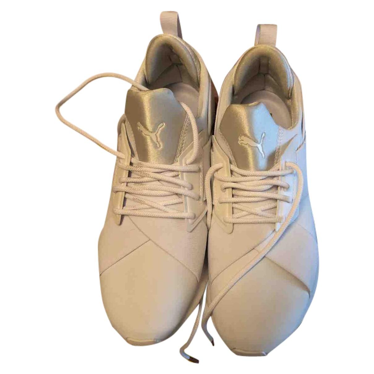 Puma N White Cloth Trainers for Women 38.5 EU