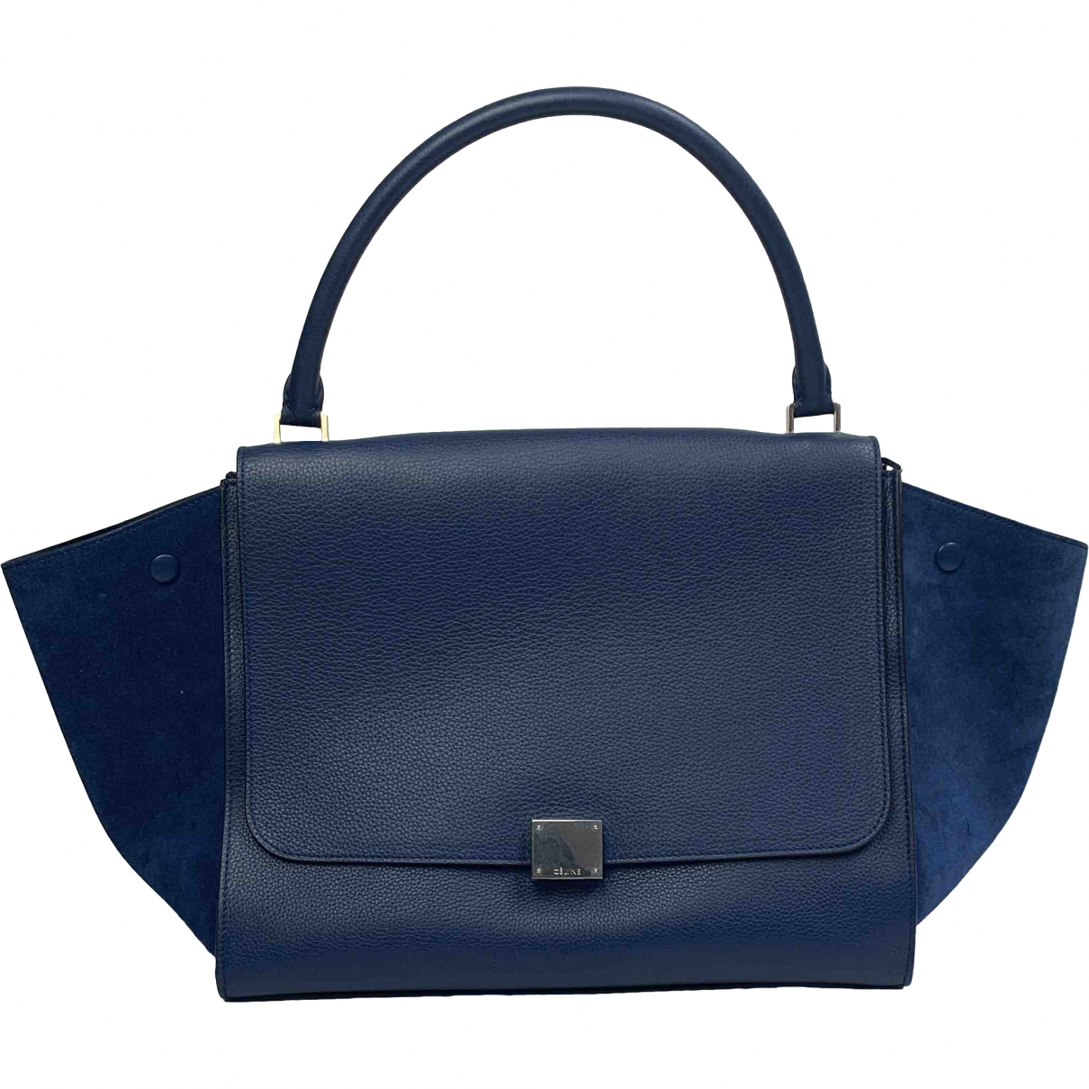 Celine Trapèze Blue Leather handbag for Women \N