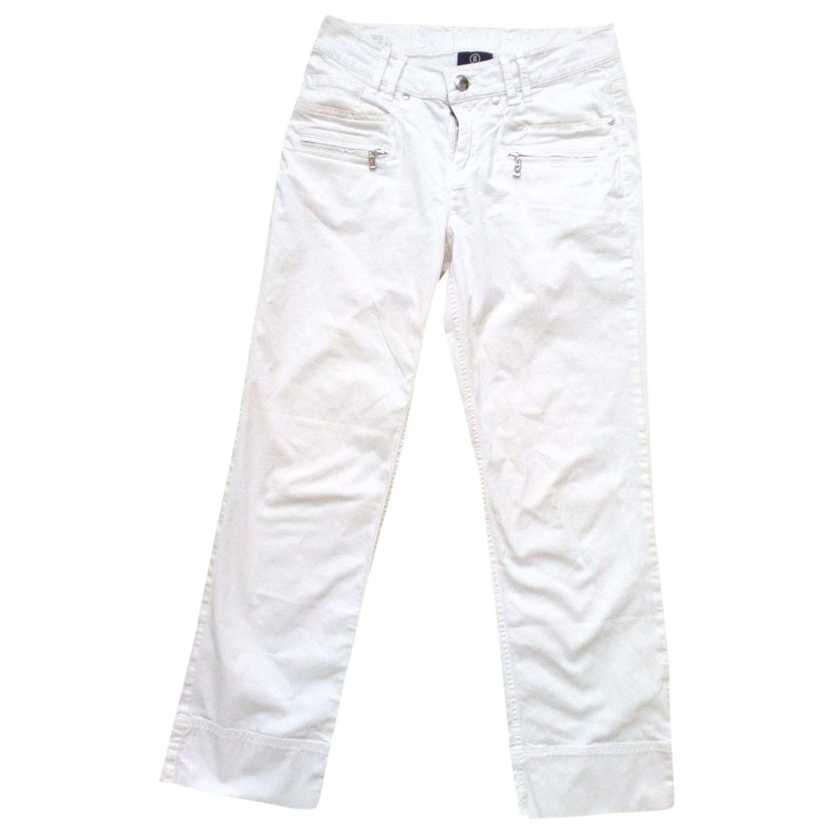Bogner \N White Cotton Trousers for Women 34 FR