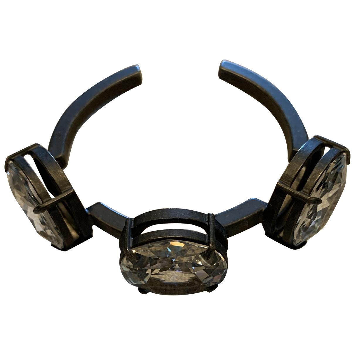 Miu Miu - Bracelet   pour femme en metal - anthracite