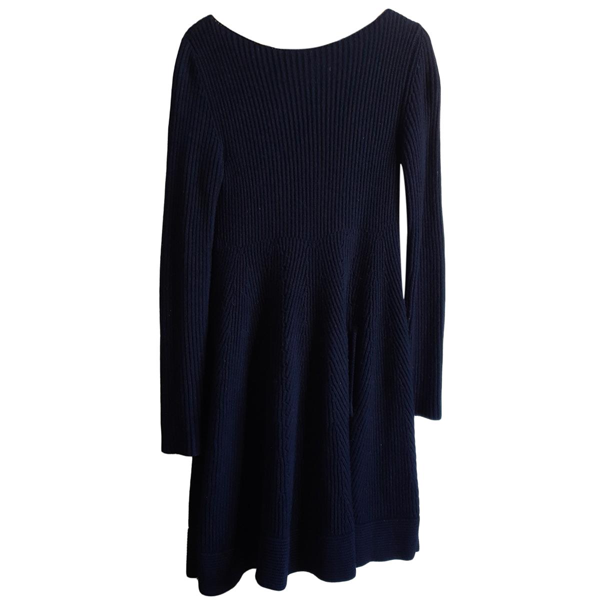 Aquilano Rimondi - Robe   pour femme en laine - bleu