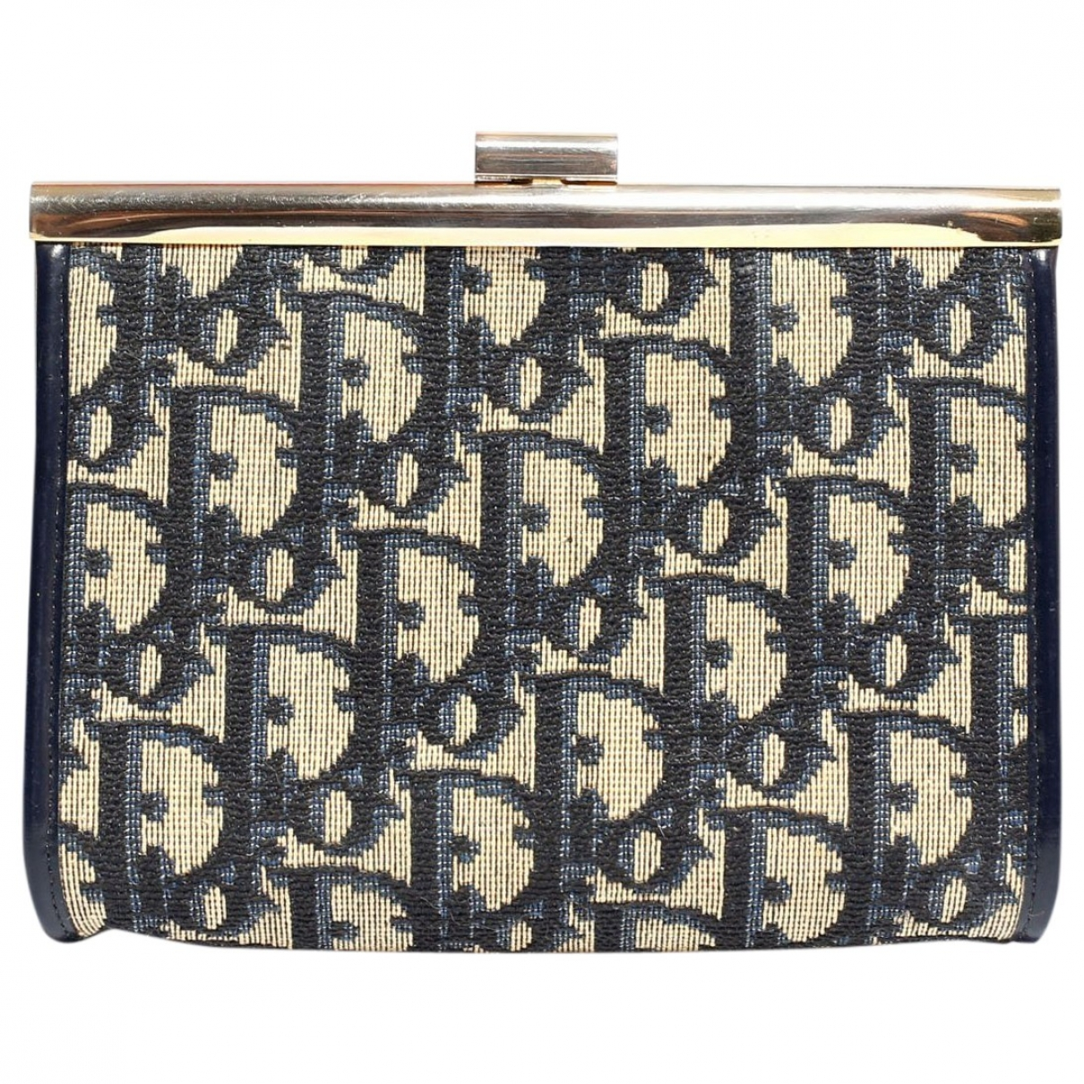 Dior \N Blue Cloth Purses, wallet & cases for Women \N