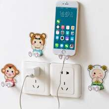 4pcs Cartoon Graphic Plug Holder
