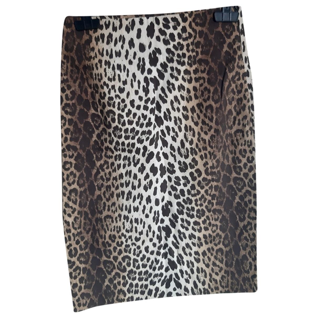 Moschino \N Multicolour Cotton - elasthane skirt for Women 44 IT