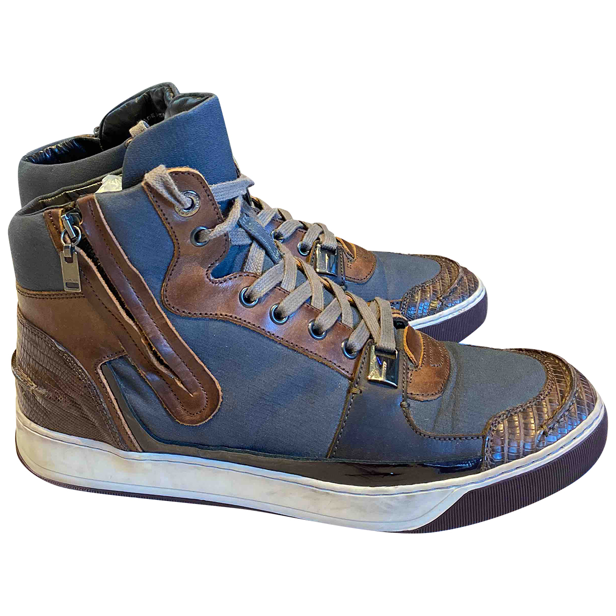 Lanvin N Brown Cloth Trainers for Men 8 UK