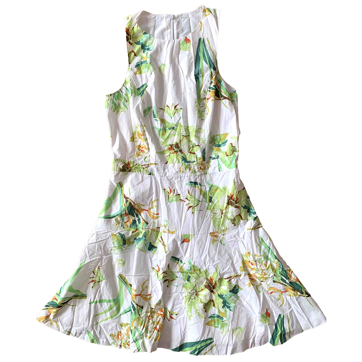 Non Signé / Unsigned \N Green Cotton dress for Women XS International