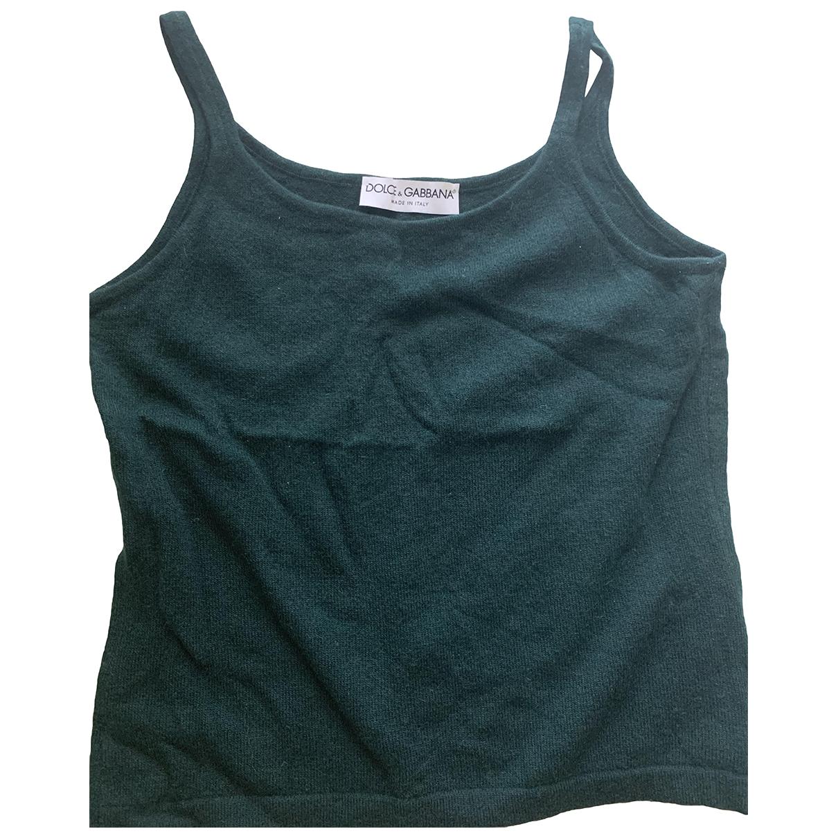 Dolce & Gabbana \N Green Cashmere  top for Women 38 IT