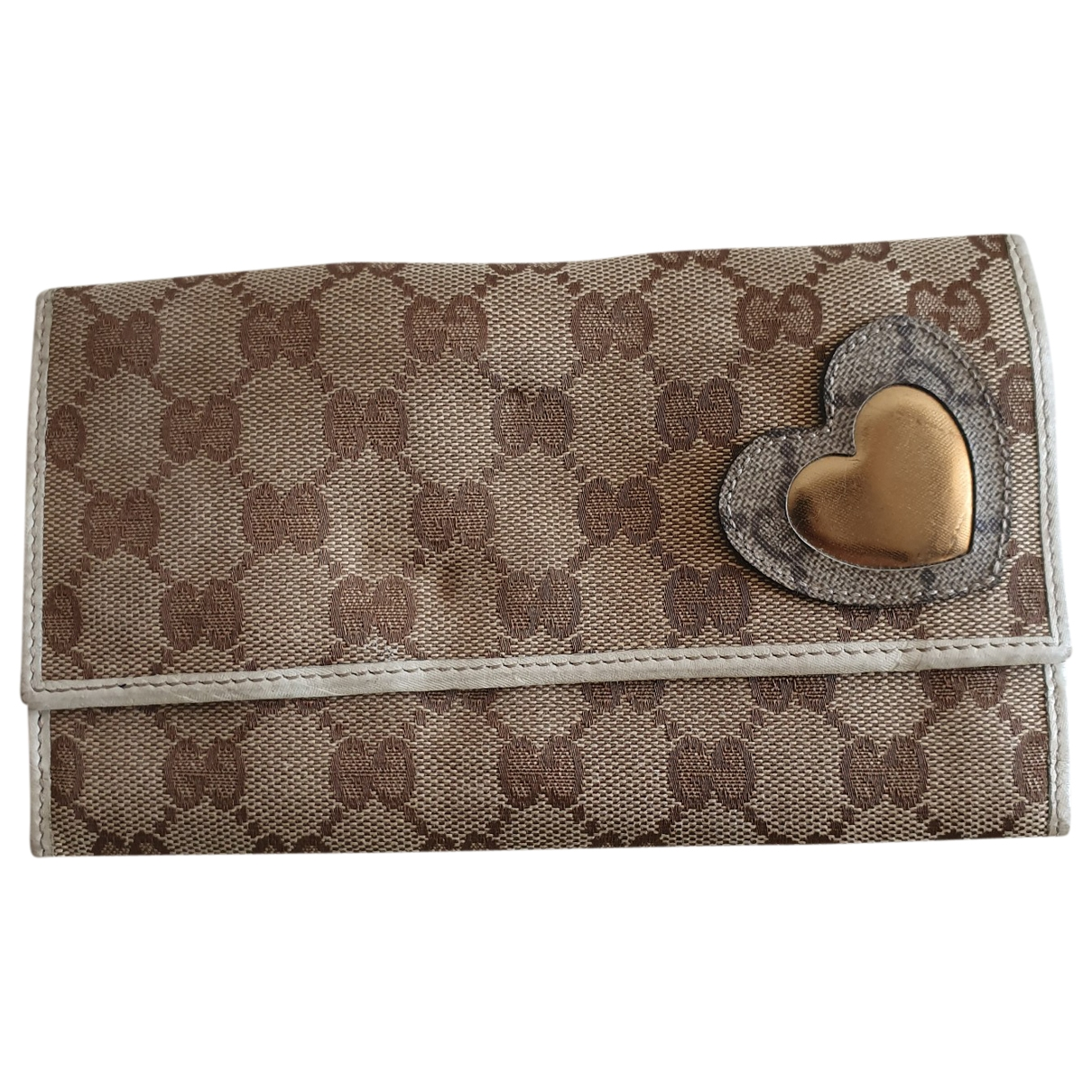 Gucci \N Beige Cloth wallet for Women \N