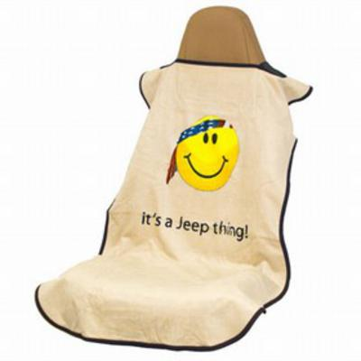INSYNC Business Solutions Seat Armor Yellow Smiley Face Seat Towel (Tan) - SA100JEPSFT