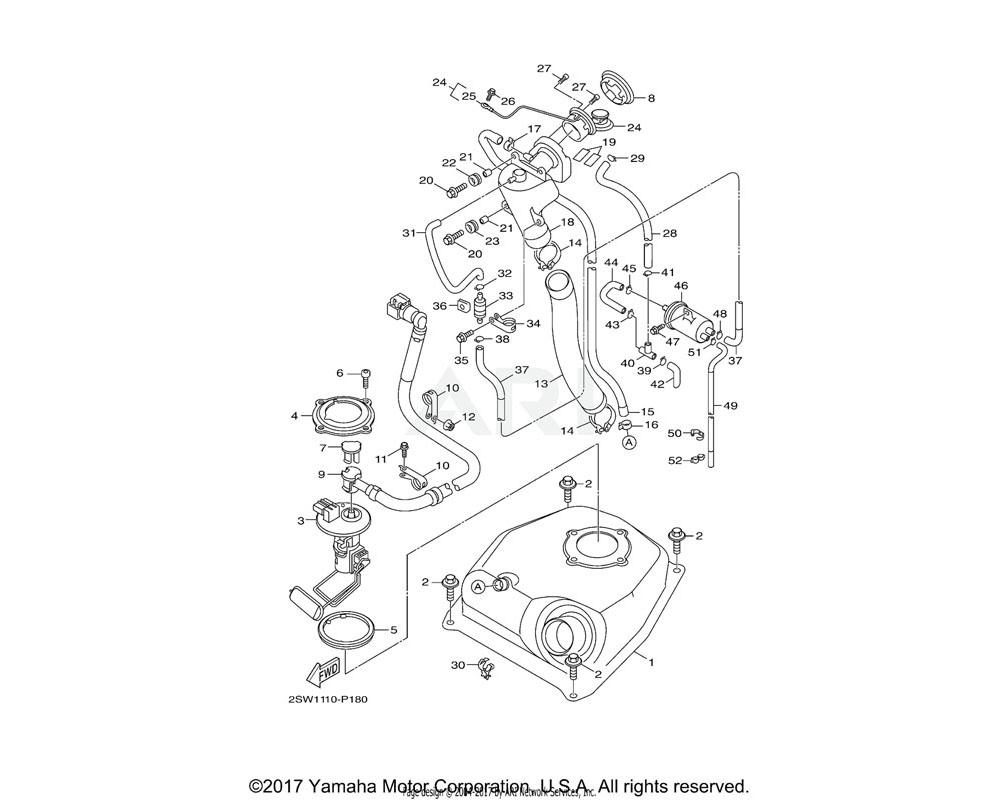 Yamaha OEM 1DK-F4491-00-00 BRACKET, FUEL PUMP