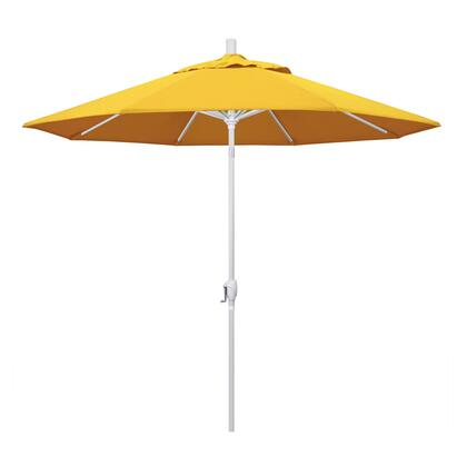 GSPT908170-5457 9' Pacific Trail Series Patio Umbrella With Matted White Aluminum Pole Aluminum Ribs Push Button Tilt Crank Lift With Sunbrella 1A