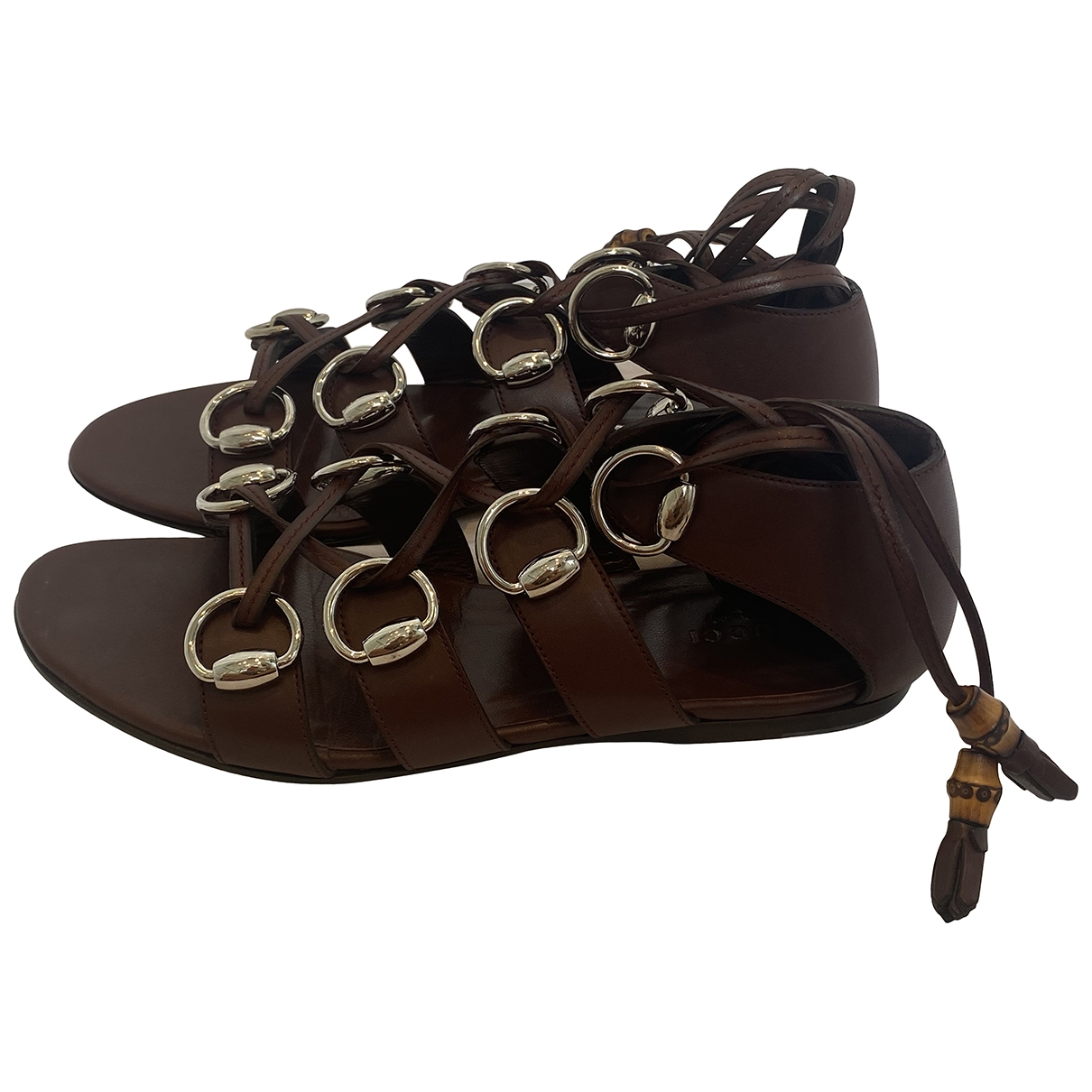 Gucci \N Brown Leather Sandals for Women 38 IT