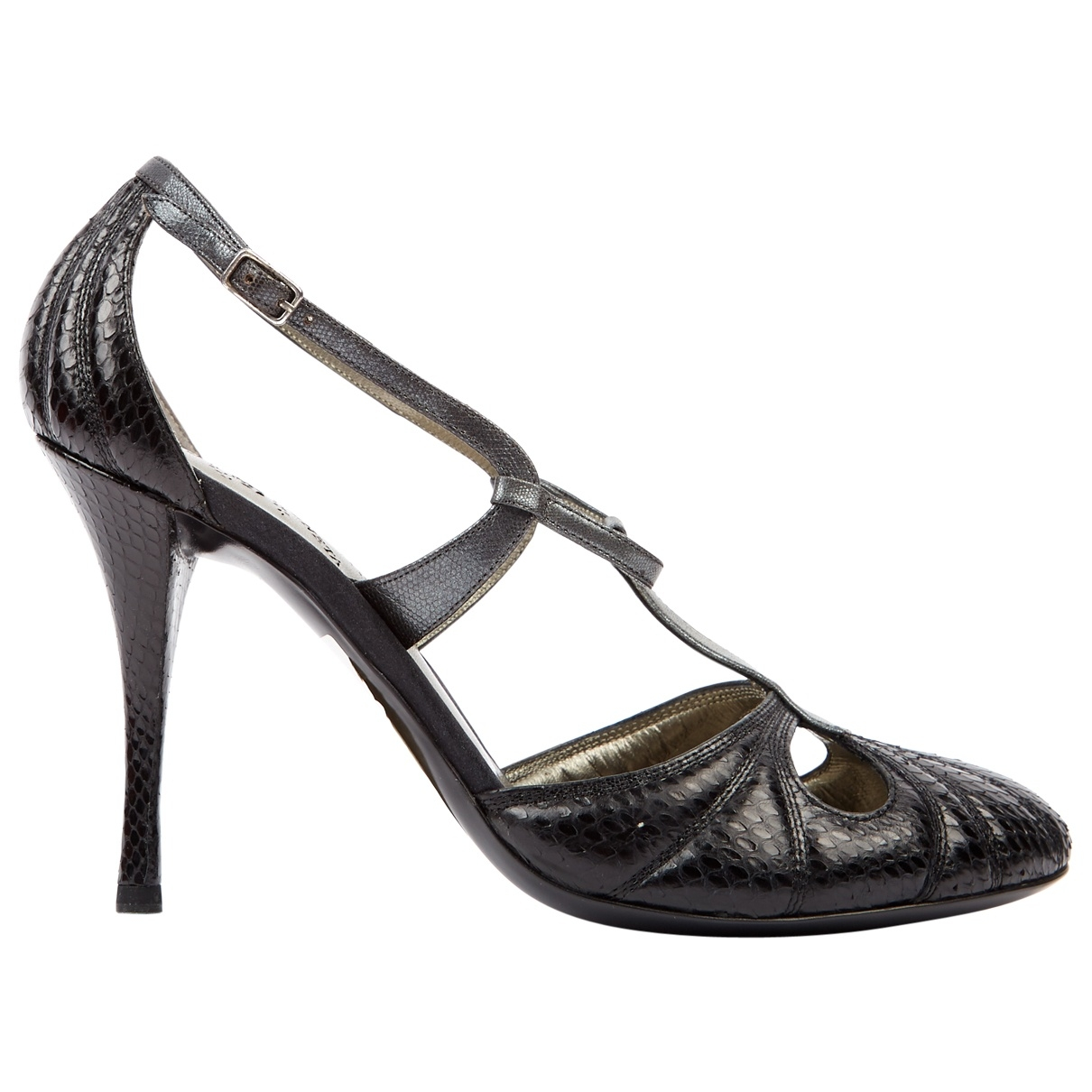Bottega Veneta \N Black Water snake Heels for Women 38.5 EU