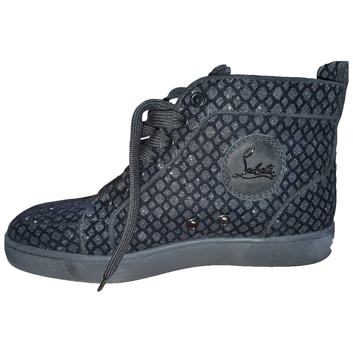 Christian Louboutin Louis Sneakers in  Schwarz Mit Pailletten