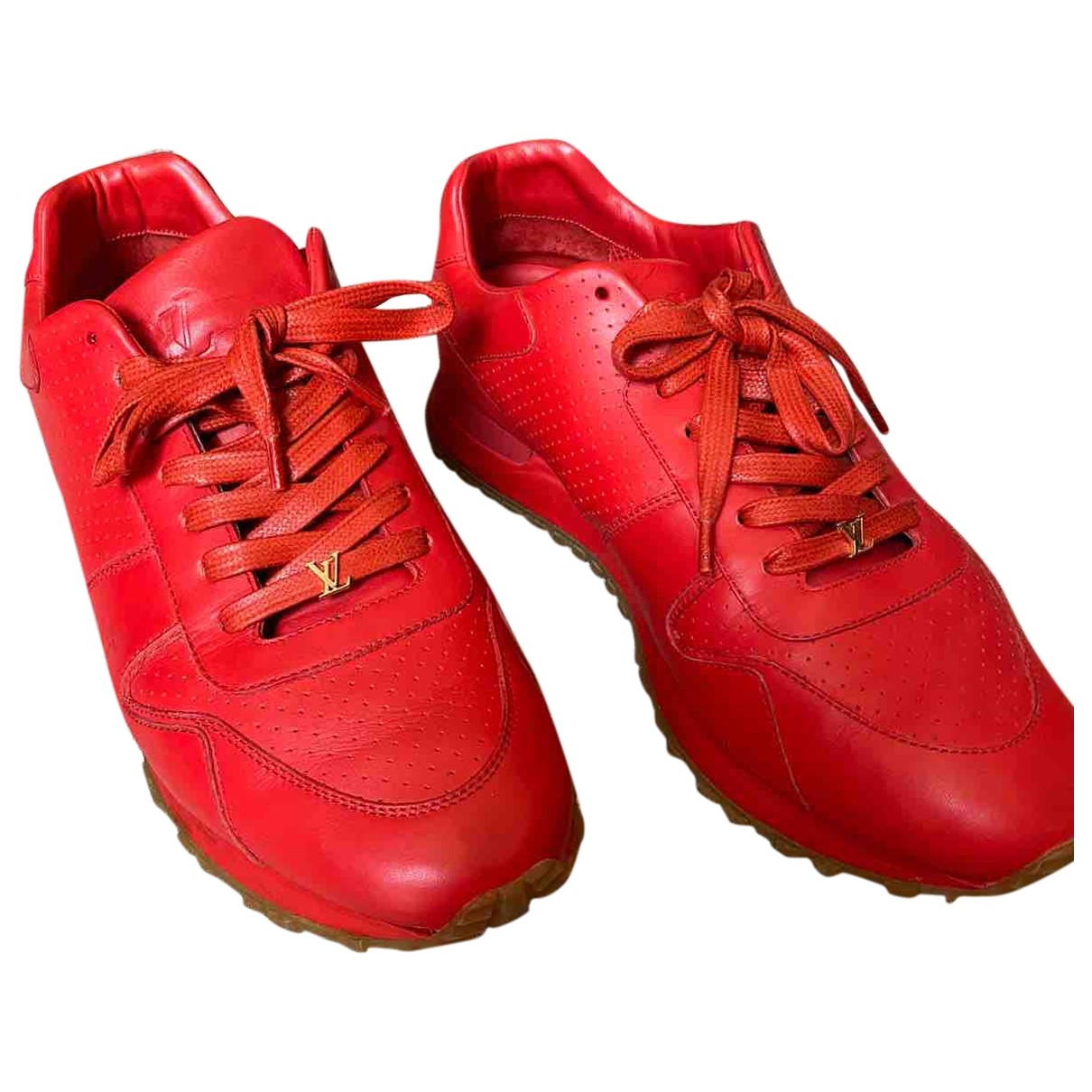 Louis Vuitton X Supreme - Baskets   pour homme en cuir - rouge