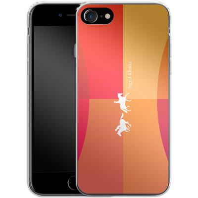Apple iPhone 7 Silikon Handyhuelle - Geometric Silhouette von Ingrid Klimke