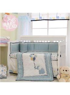 Adorable Happy Elephant 8-Piece Crib Bedding Sets