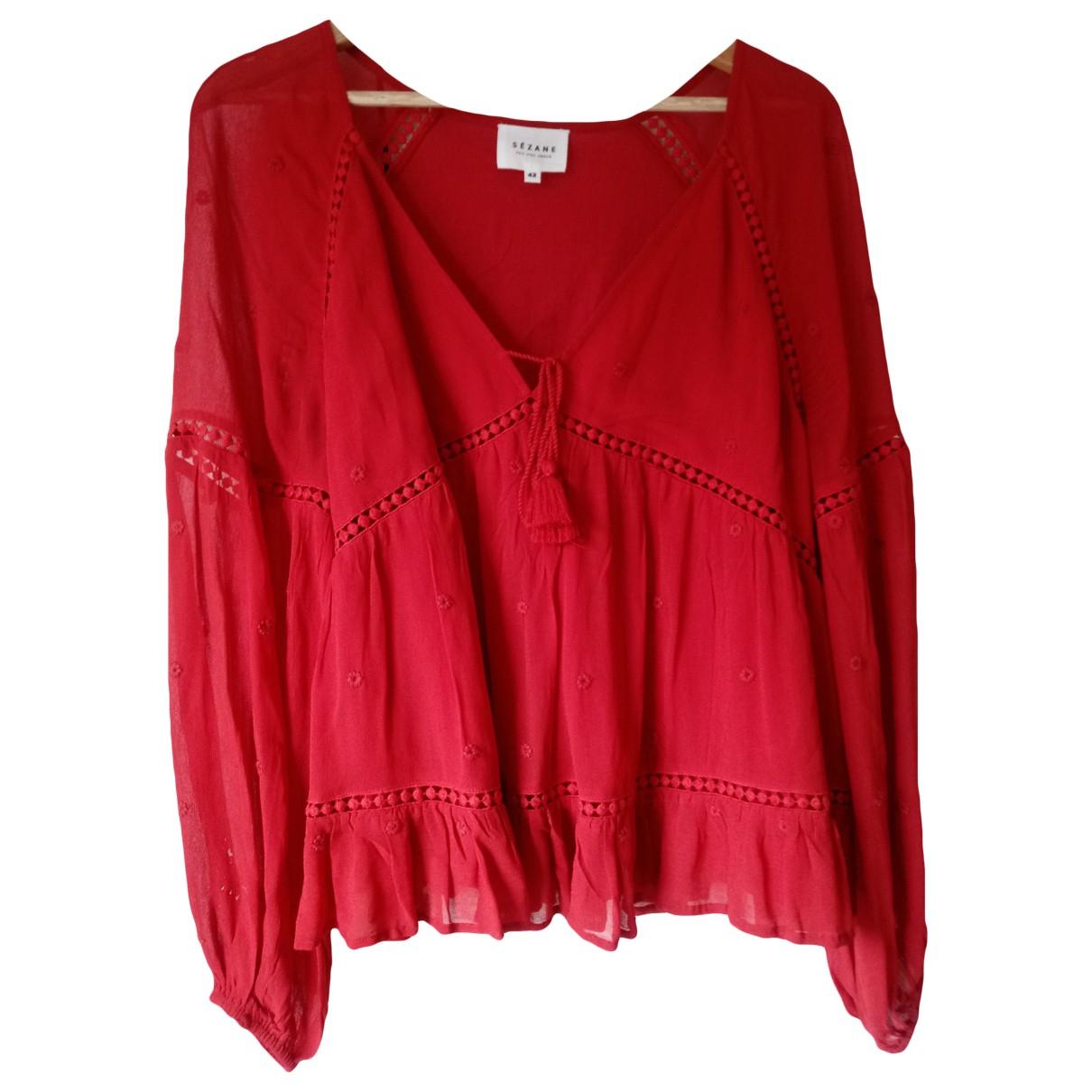 Sézane \N Red Cotton  top for Women 42 FR