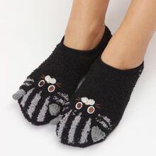 Cartoon Embroidery Warm Socks