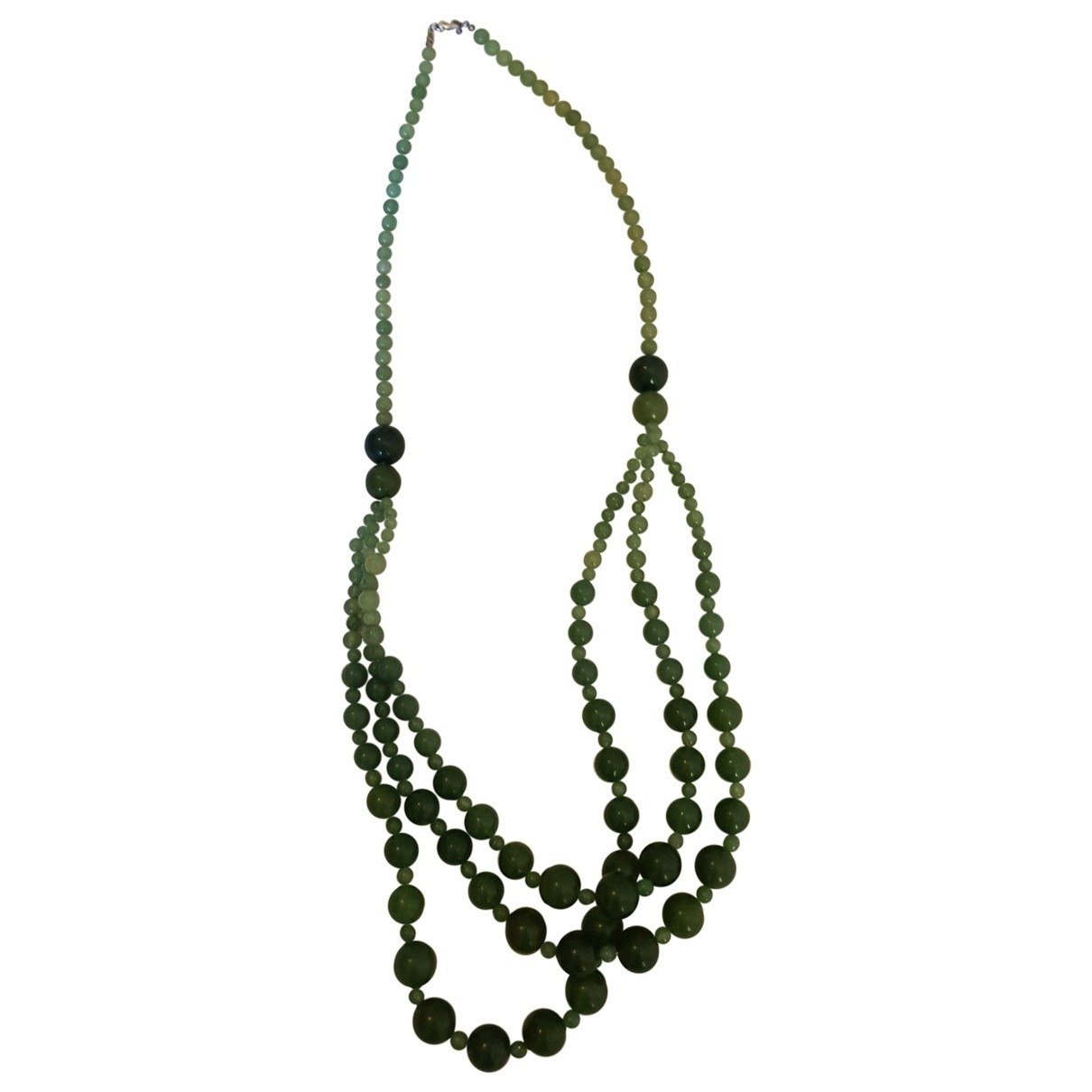 Non Signé / Unsigned \N Green Pearls Long necklace for Women \N